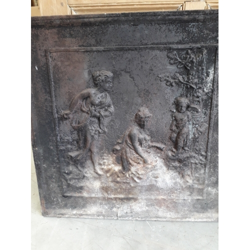 cast iron hearth plate n°16